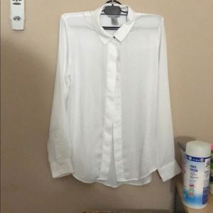 White long sleeved button up